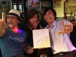 小倉ライブハウスマリア フォトギャラリー 日々のフォトギャラリー サインいただきました!
